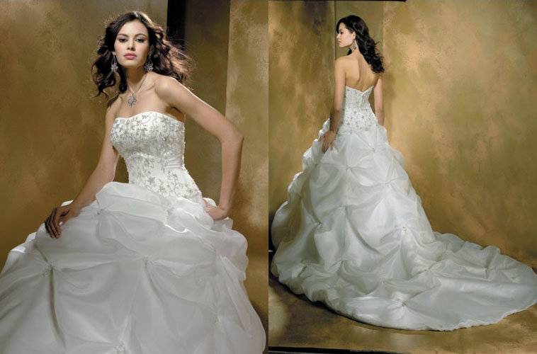 Strapless wedding dress SW30026